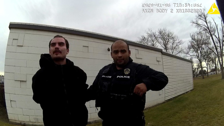 Moses Lake Police arrest Chance Runaway Suarez at a park near the police department.