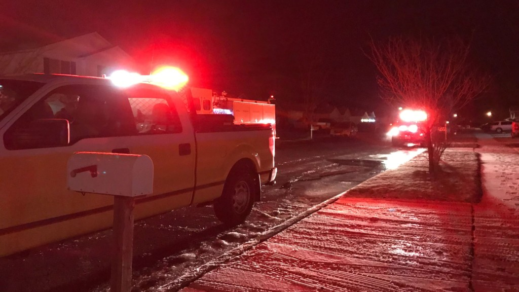 Two people and two pets escaped a house fire unharmed.