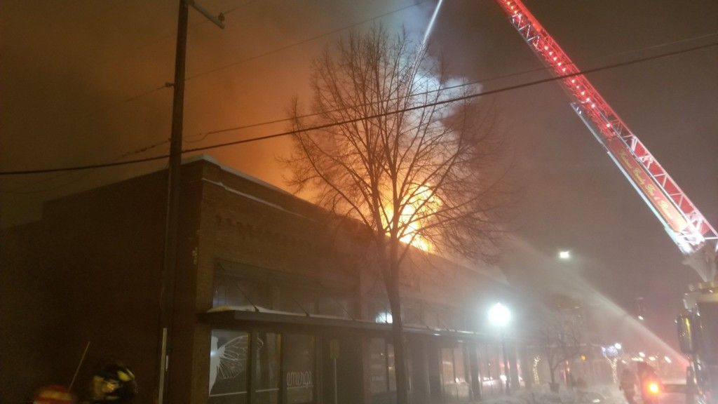Fire businesses were destroyed in a fire in downtown Coeur d'Alene