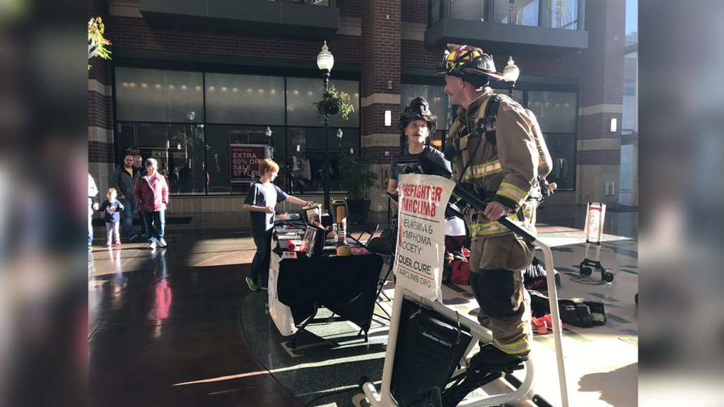 Spokane firefighters climb stairs for fight against cancer