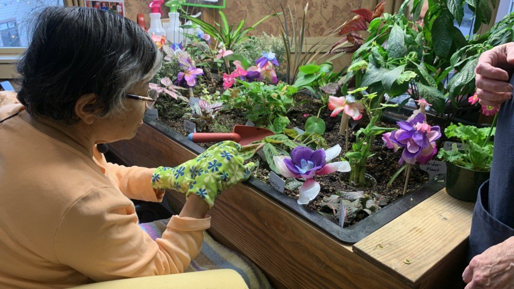 Therapeutic horticulture class at Rockwood Retirement