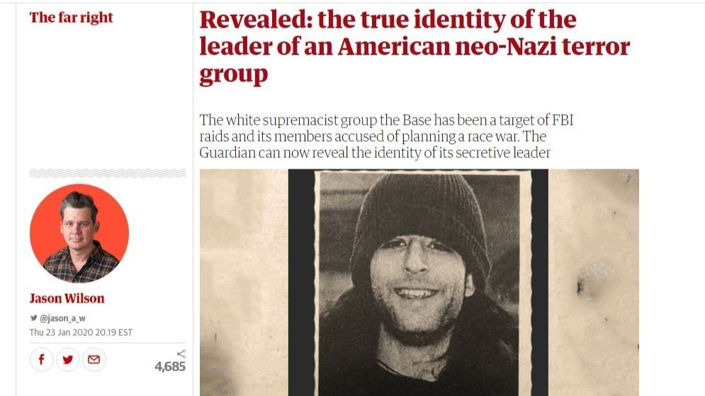Screenshot of investigation by the Guardian
