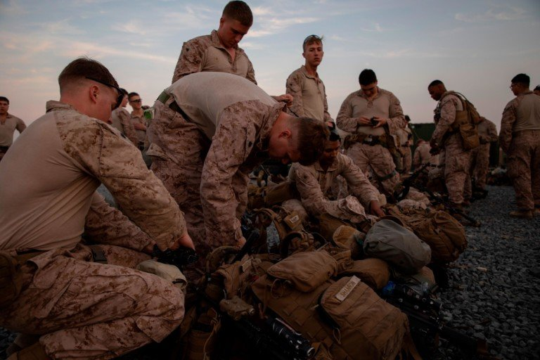 U.S. Marines assigned to Special Purpose Marine Air-Ground Task Force-Crisis Response-Central Command