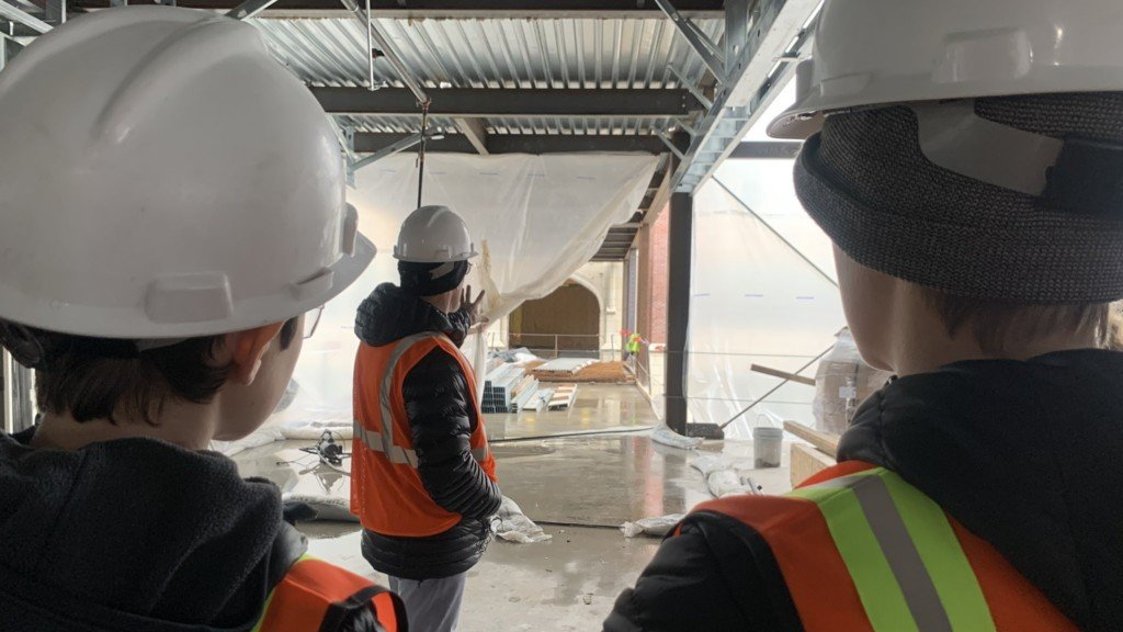 Lewis and Clark High School students tour new facility