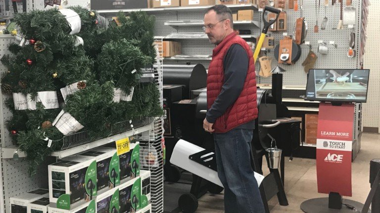 Last-minute snow supply shopping