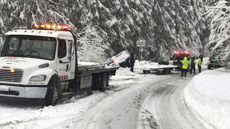 A crash had temporarily closed State Route 206 near the summit of Mt. Spokane.