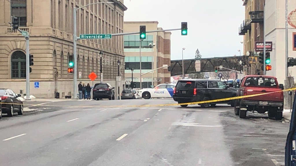 Spokane Police are responding to reports of a suspicious package near the Federal Building