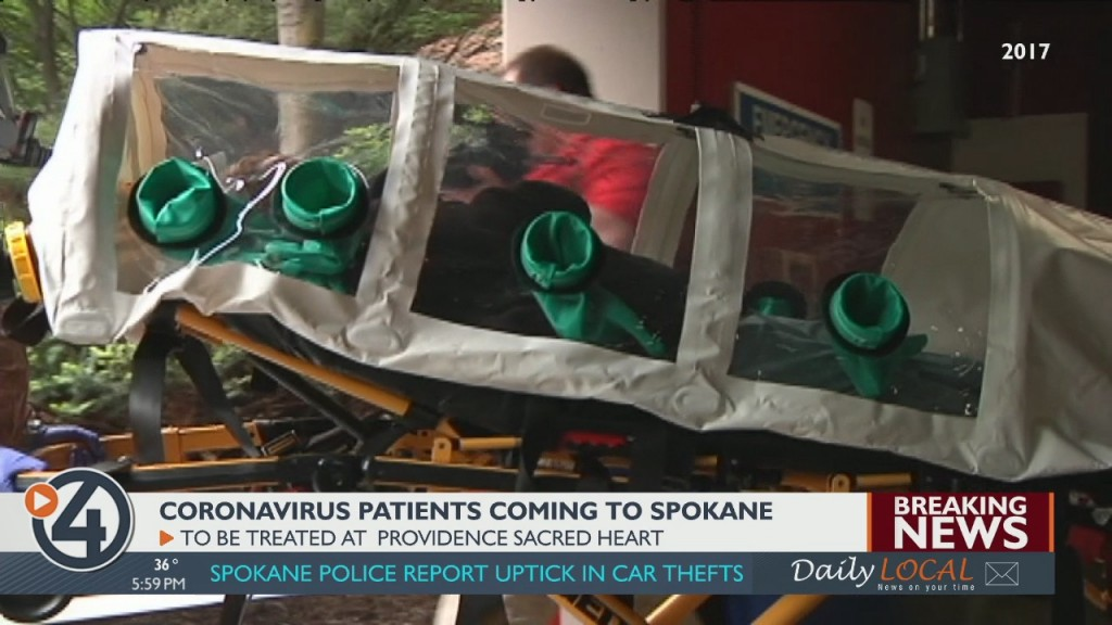 Coronavirus patients coming to Spokane