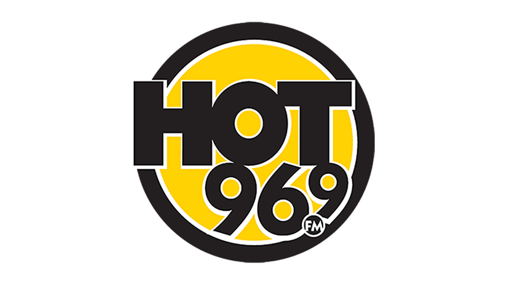 Hot 96.9 logo on white background
