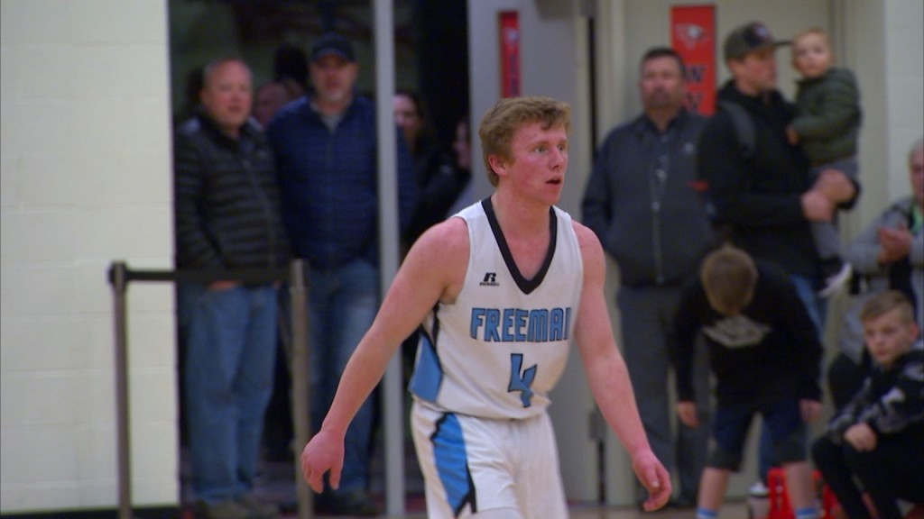 Freeman Senior Kaleb Ohler shows great leadership for the Scotties