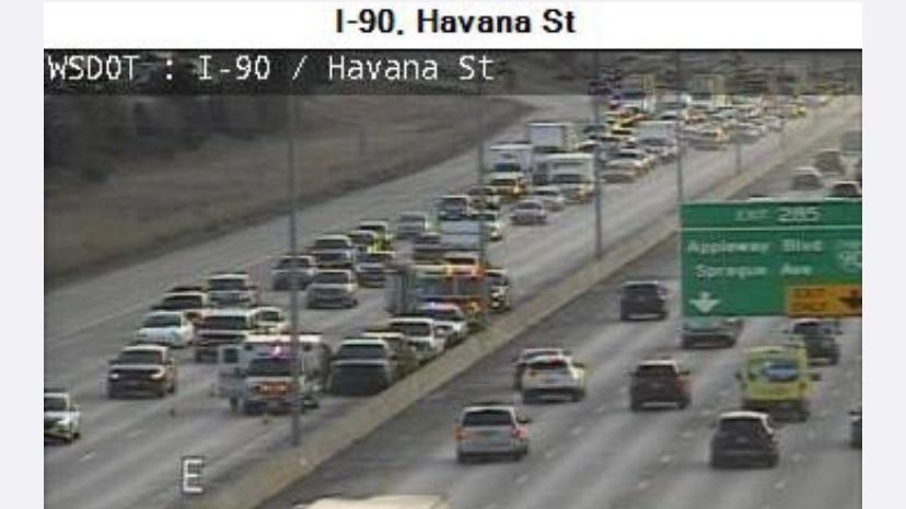 three car crash blocks land of I90 near Havana