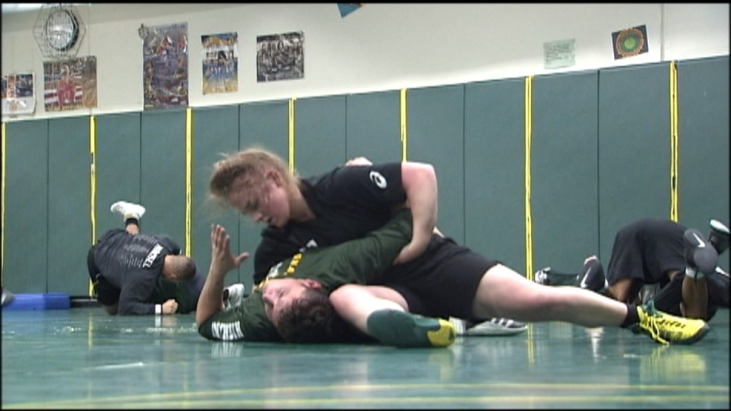 Shadle Park Senior Alicia Stewart has her sights set on a state wrestling title