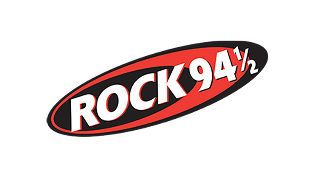 Rock 94.5 logo on white background