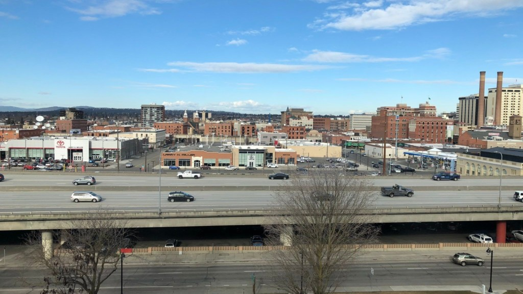 View of downtown Spokane from the Ronald McDonald House