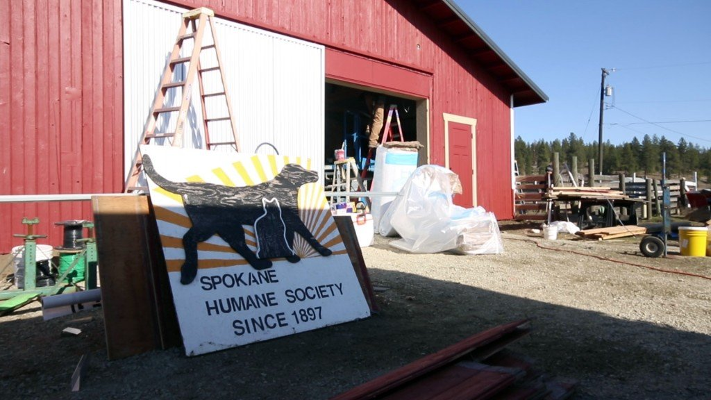The Extreme Team renovates the Humane Society's Big Red Barn