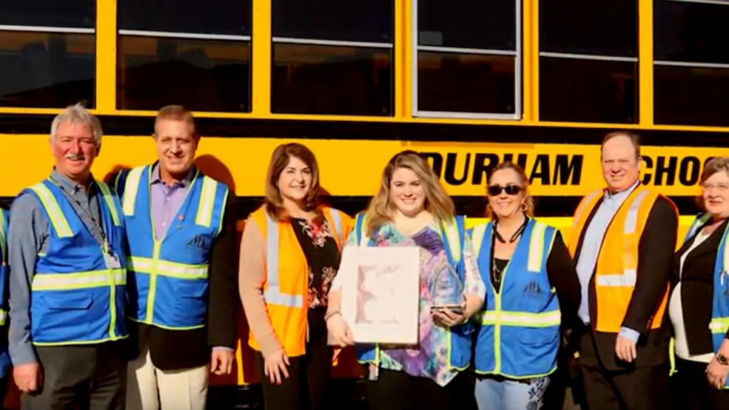 Bus driver awarded for helping find student