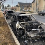 Spokane Police are searching for a possible arsonist after several cars were found on fire