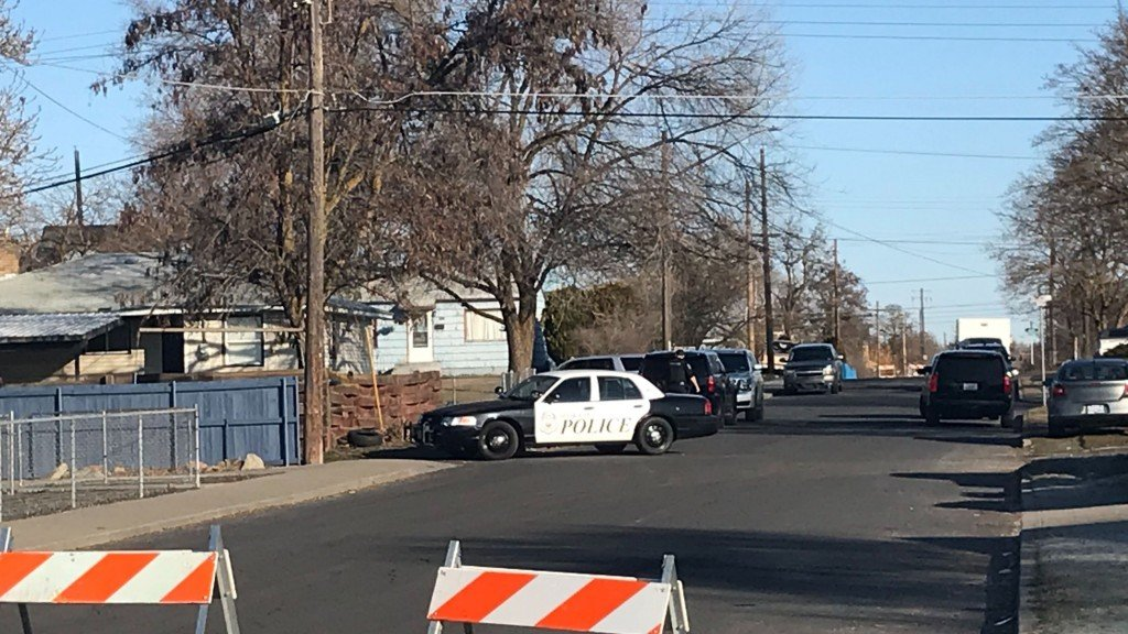 Spokane Police on scene of an investigation in Hillyard