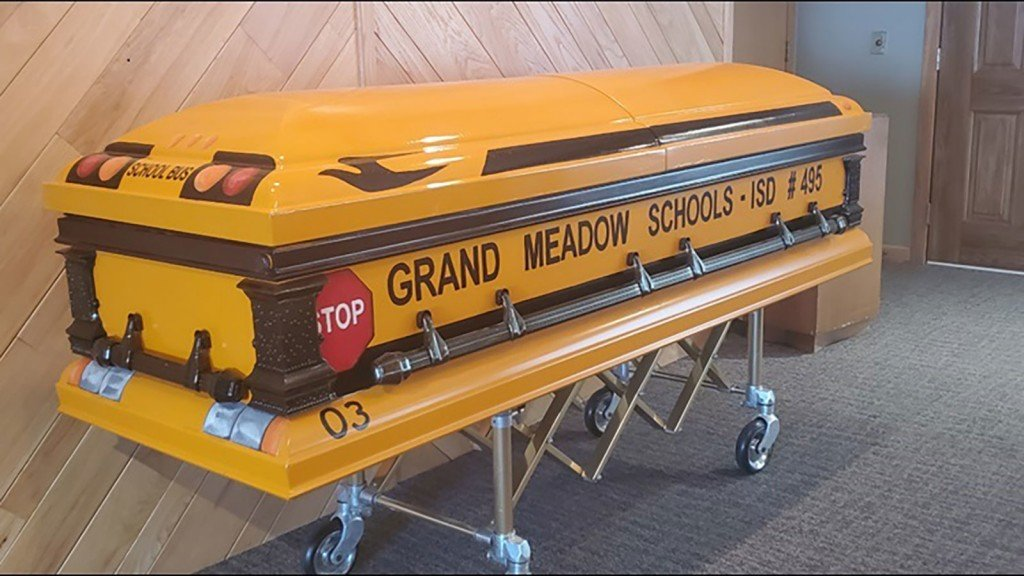 Longtime bus driver to be buried in bus casket