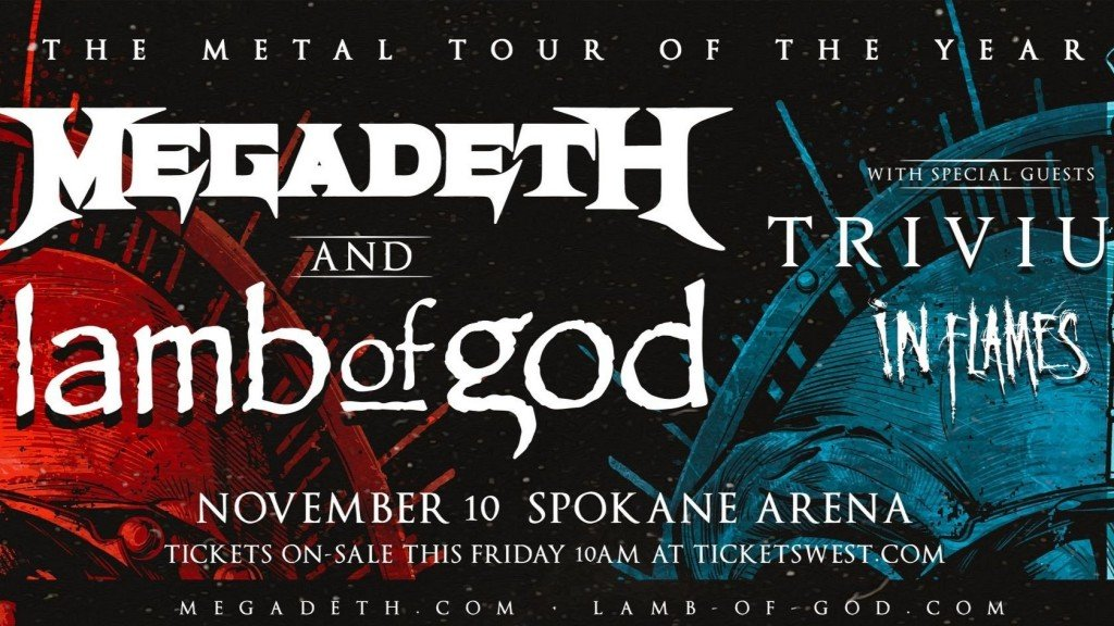 Spokane Arena graphic announcing metal tour