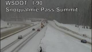 Part of I-90 closed over Snoqualmie Pass