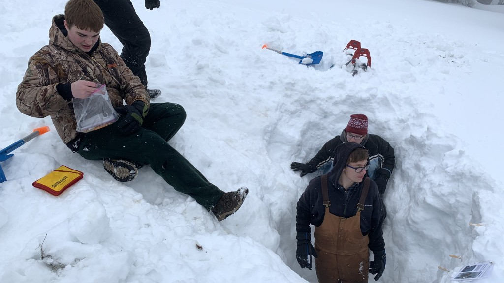 Sprague High School students learn about snow science