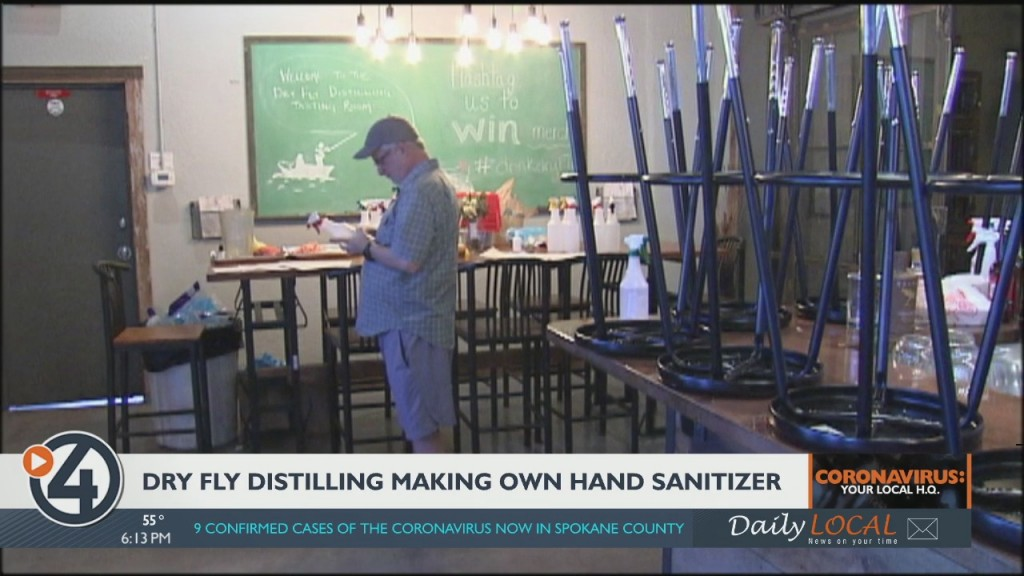Dry Fly Distilling Making Its Own Hand Sanitizer