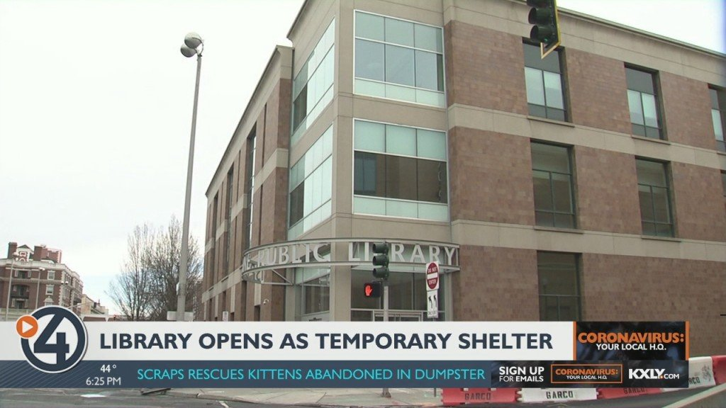 Downtown Library Reopens As A Temporary Shelter