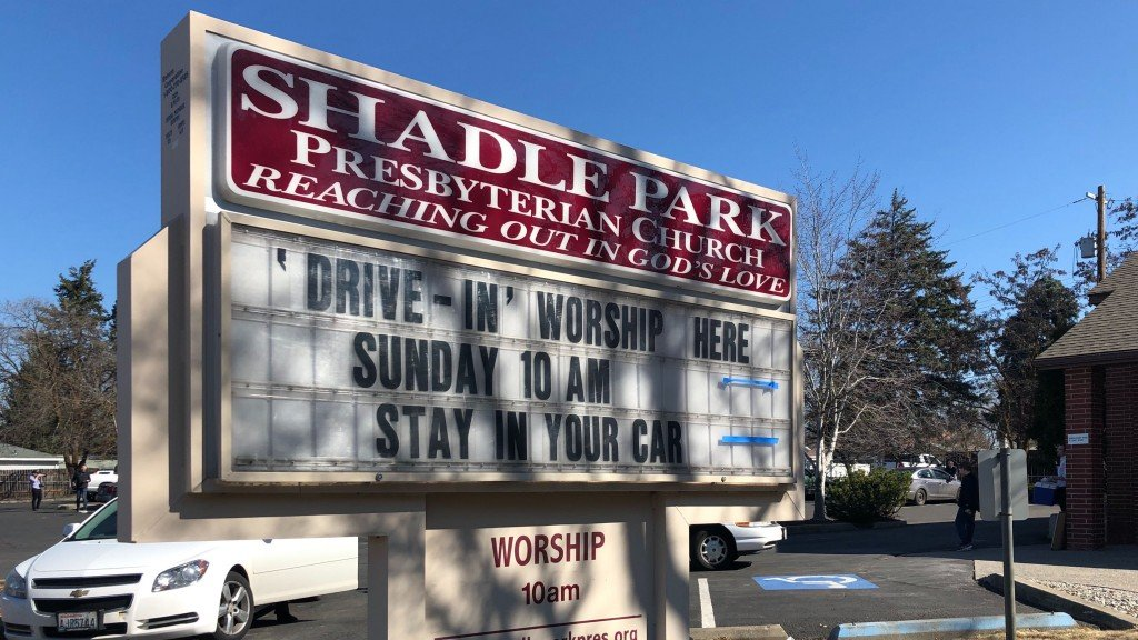 Spokane church holds drive-in worship service to combat spread of COVID-19