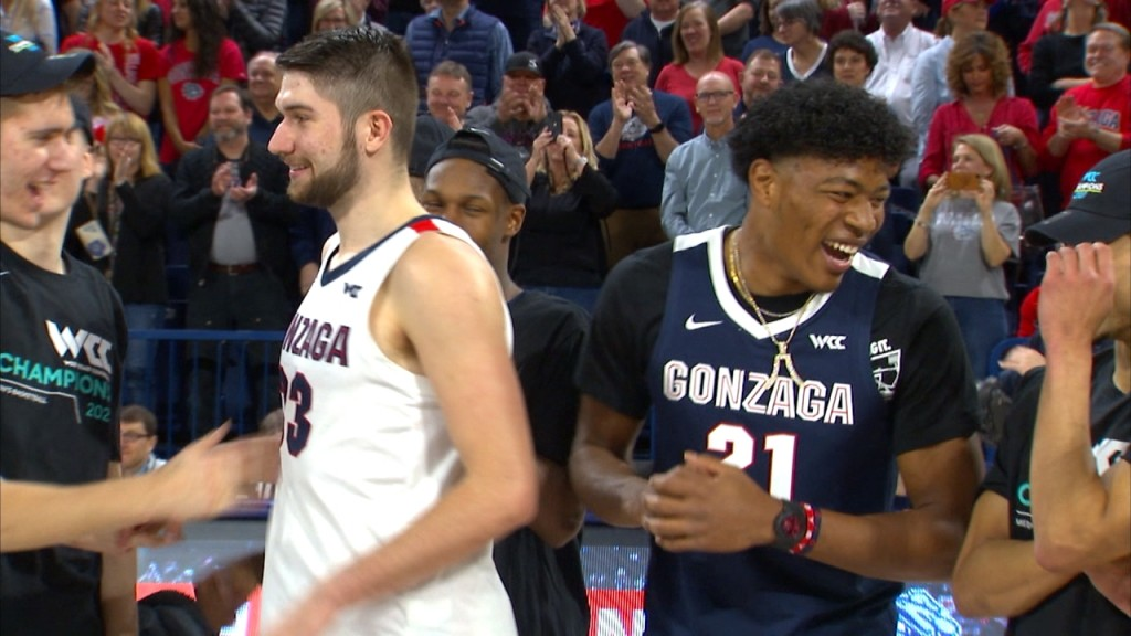 Mac Graff walked for the first time since an injury, Rui Hachimura showed up in the Kennel, and the Zags won on senior night