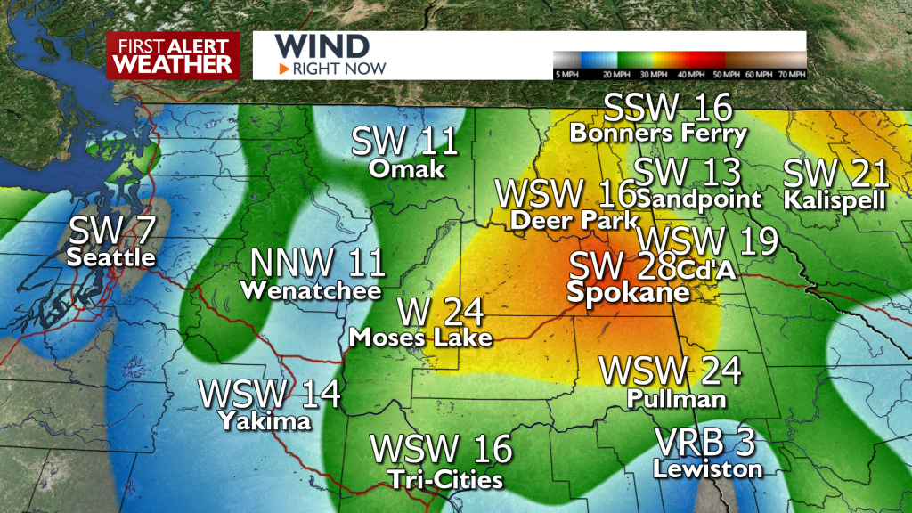 Winds Right Now 415am