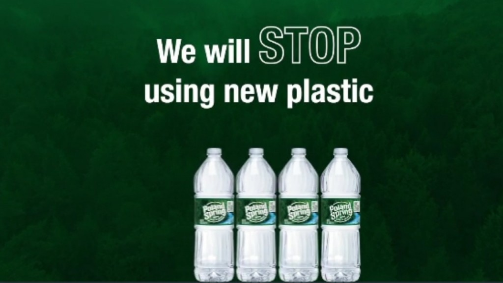 Bottled water maker pledges to use recycled plastic