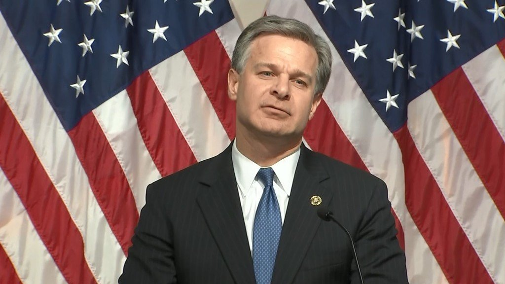 FBI Director Wray expresses anger over government shutdown