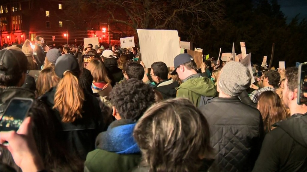 Michigan State students march for sexual assault survivors