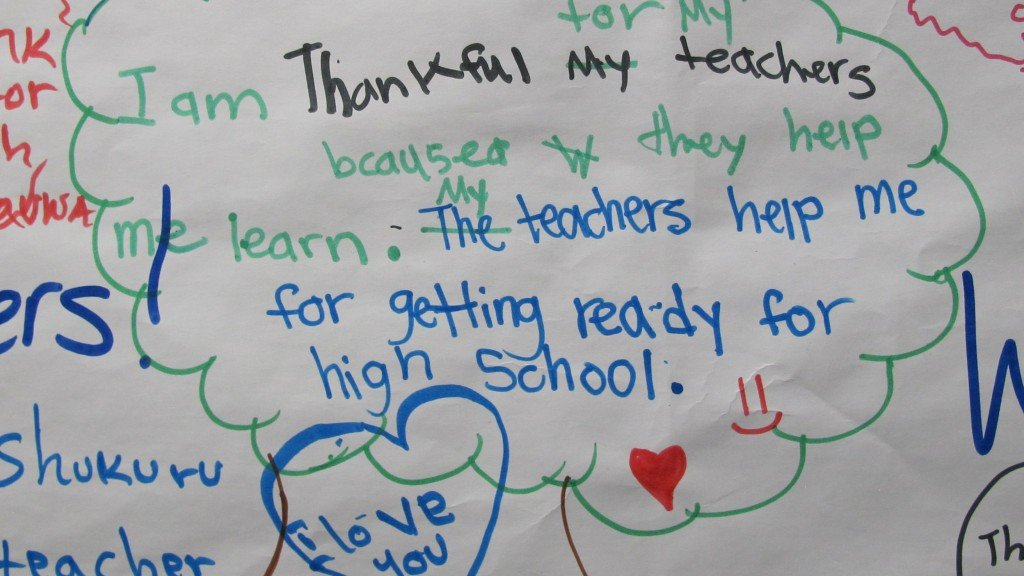 What one group of refugee girls is thankful for this Thanksgiving