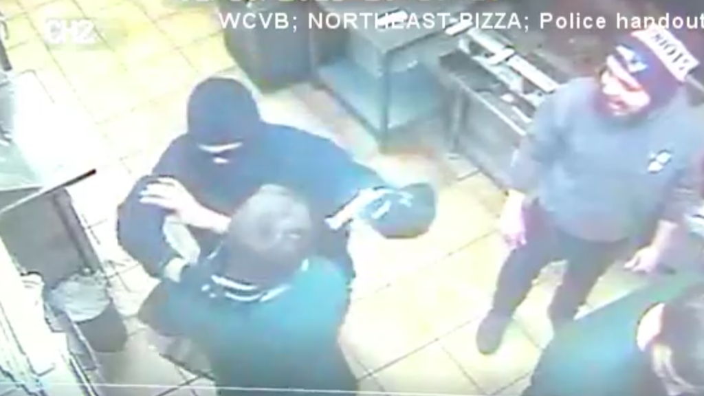 Pizza shop workers take down armed robber, find out it's their former boss