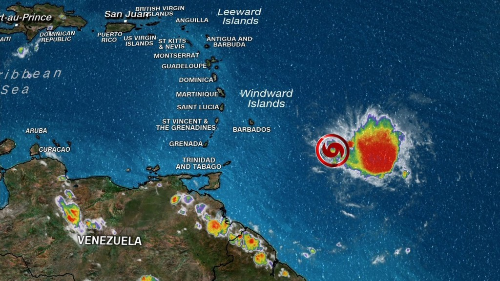 Tropical Storm Dorian could become a hurricane by Tuesday