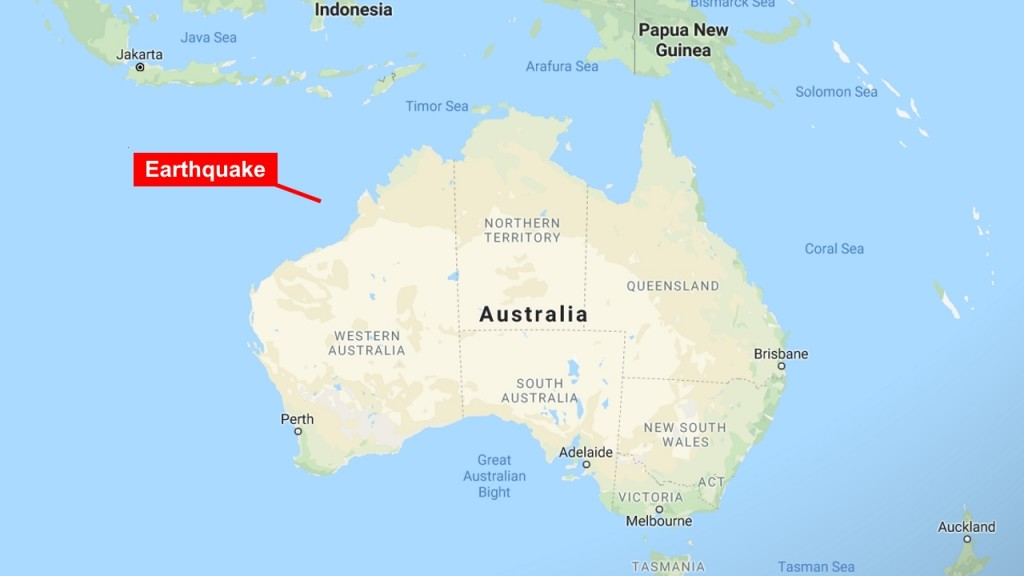 Earthquake rumbles off Australia's west coast