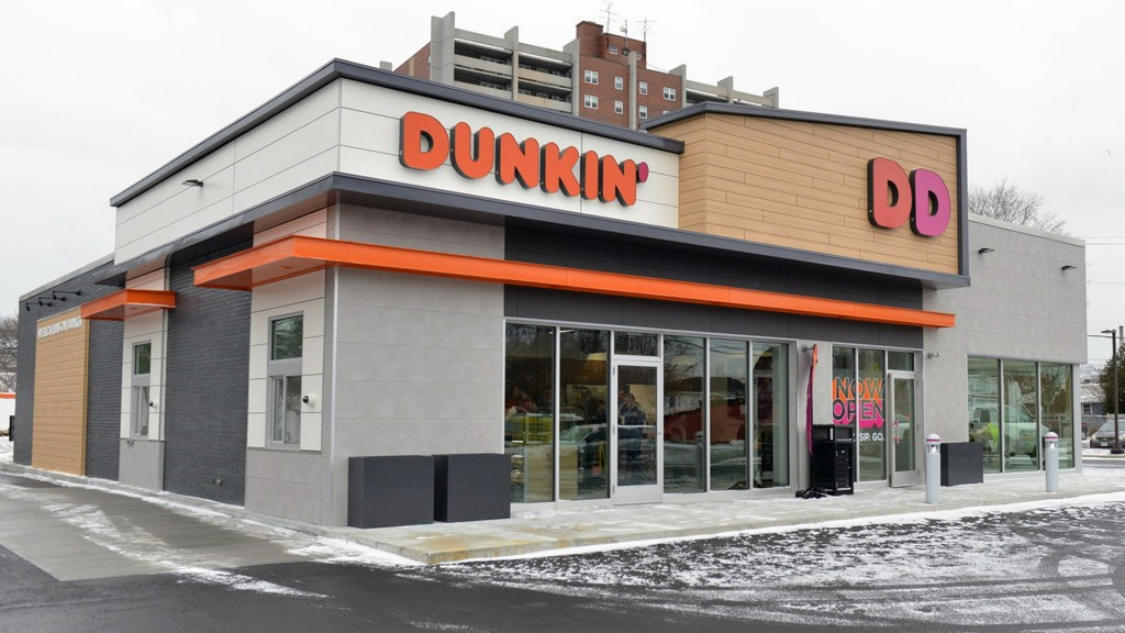 Dunkin' Donuts shows off new concept store