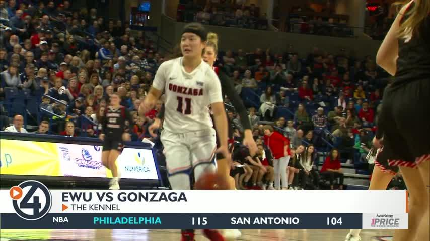 Gonzaga women win 16th-straight over Eastern, 84-44