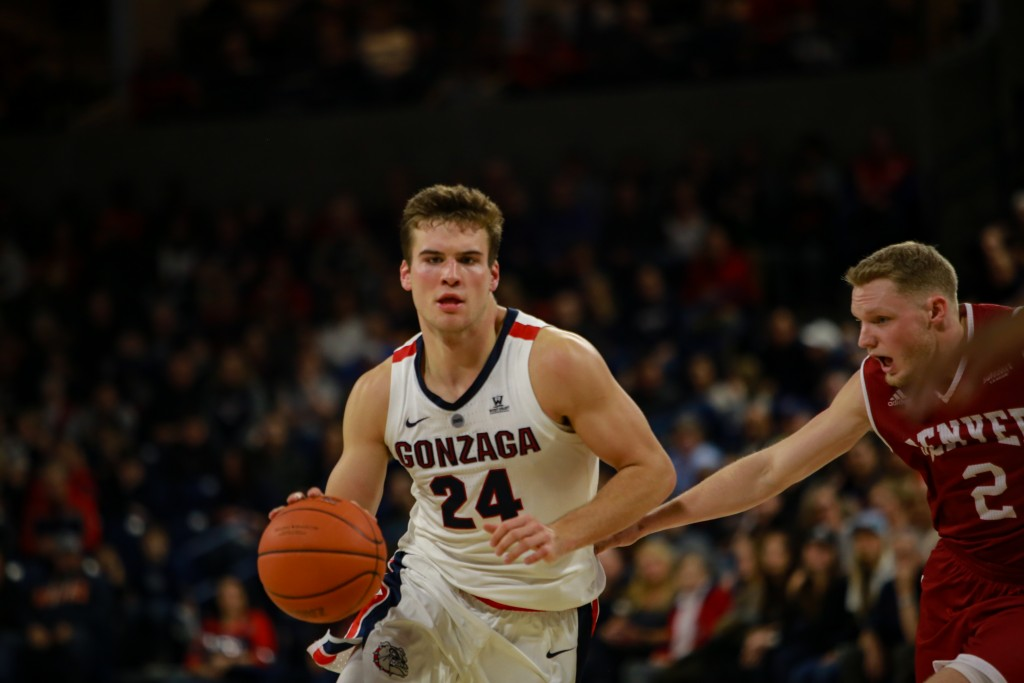 #8 Gonzaga Bulldogs blowout University of Denver Pioneers