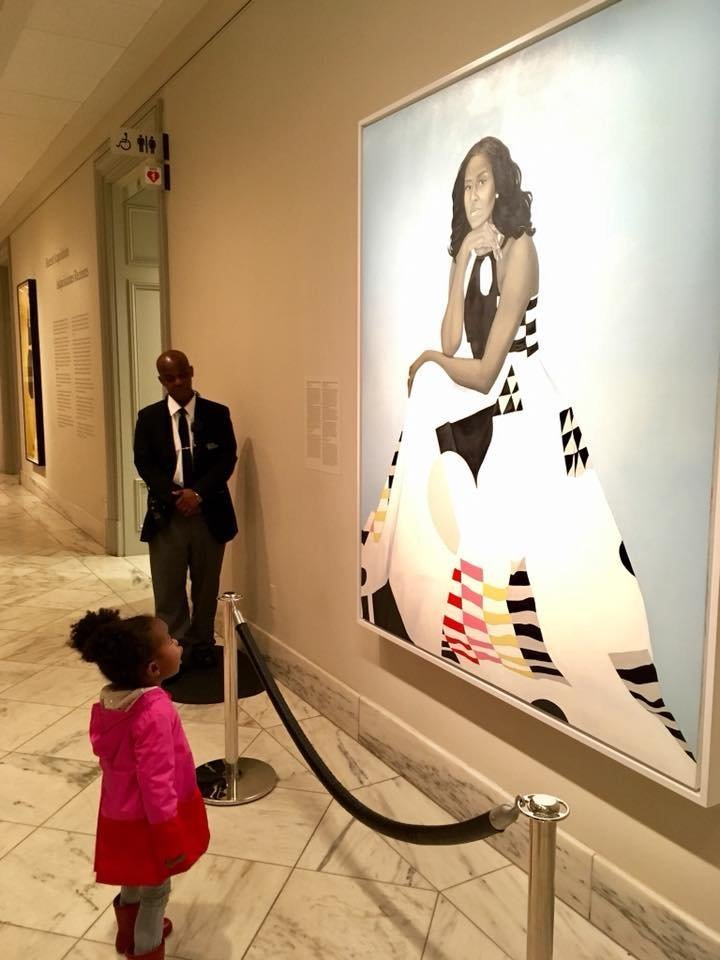 Michelle Obama reached out to family of girl awestruck by her portrait
