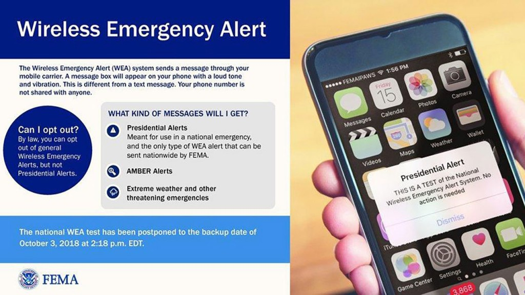 FEMA tests 'Presidential Alert' system