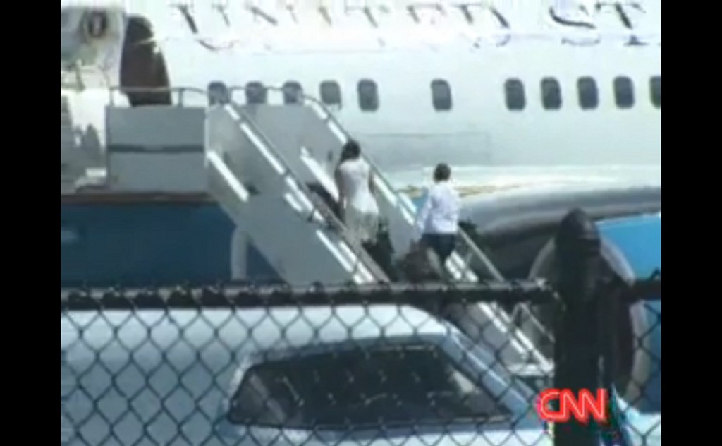 Hope Hicks spotted boarding Air Force One