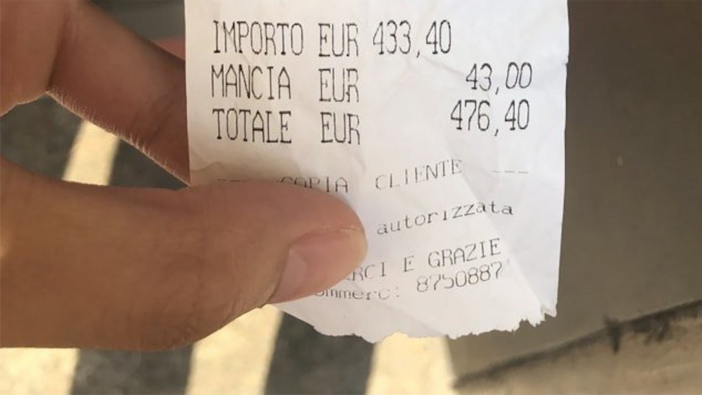 Rome restaurant faces wave of complaints after $500 bill goes viral