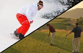 Ski and Golf in the Same Day