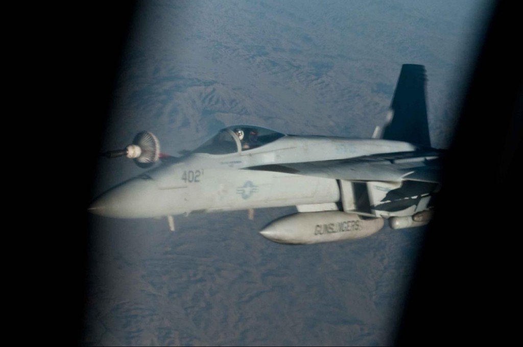 Refueling Mission Over Afghanistan