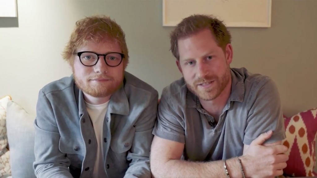 Ed Sheeran, Prince Harry unite in video for World Mental Health Day