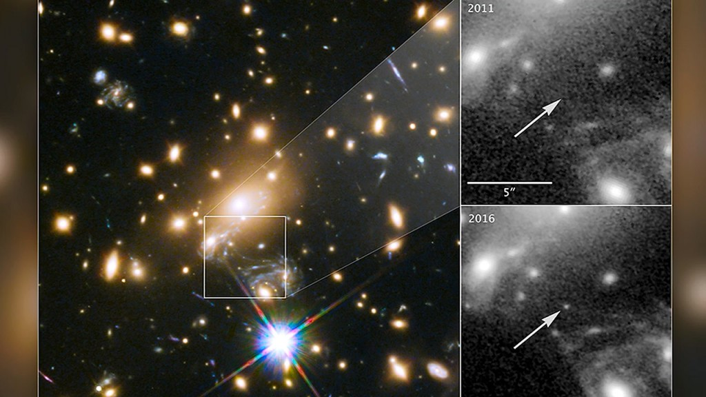 Hubble Space Telescope discovers farthest star ever seen