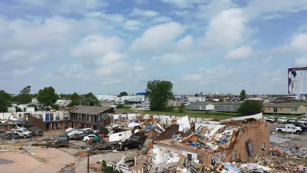 Six dead after severe weather in Oklahoma